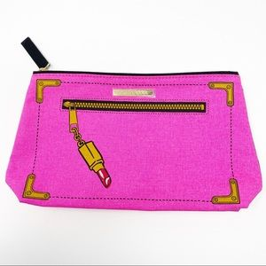 Estée Lauder Hot Pink Cosmetic Make Up Pouch Bag